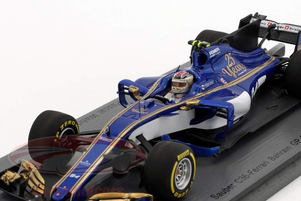 Pascal Wehrlein Sauber C36 #94 Bahrain GP formula 1 2017 1:43 Spark