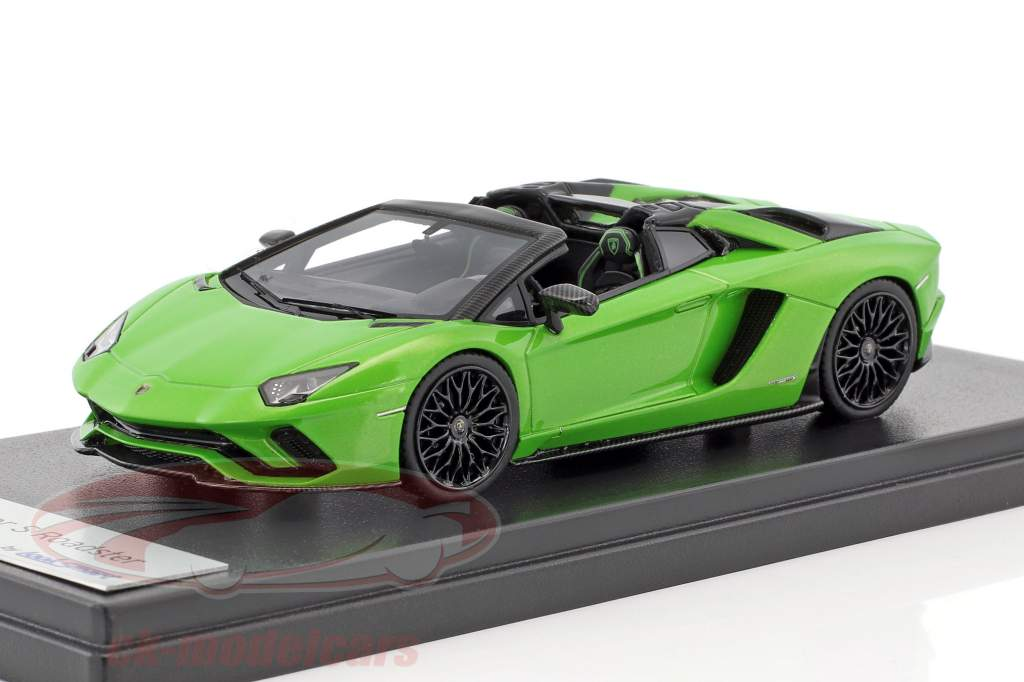 Lamborghini Aventador S roadster mante vert 1:43 LookSmart