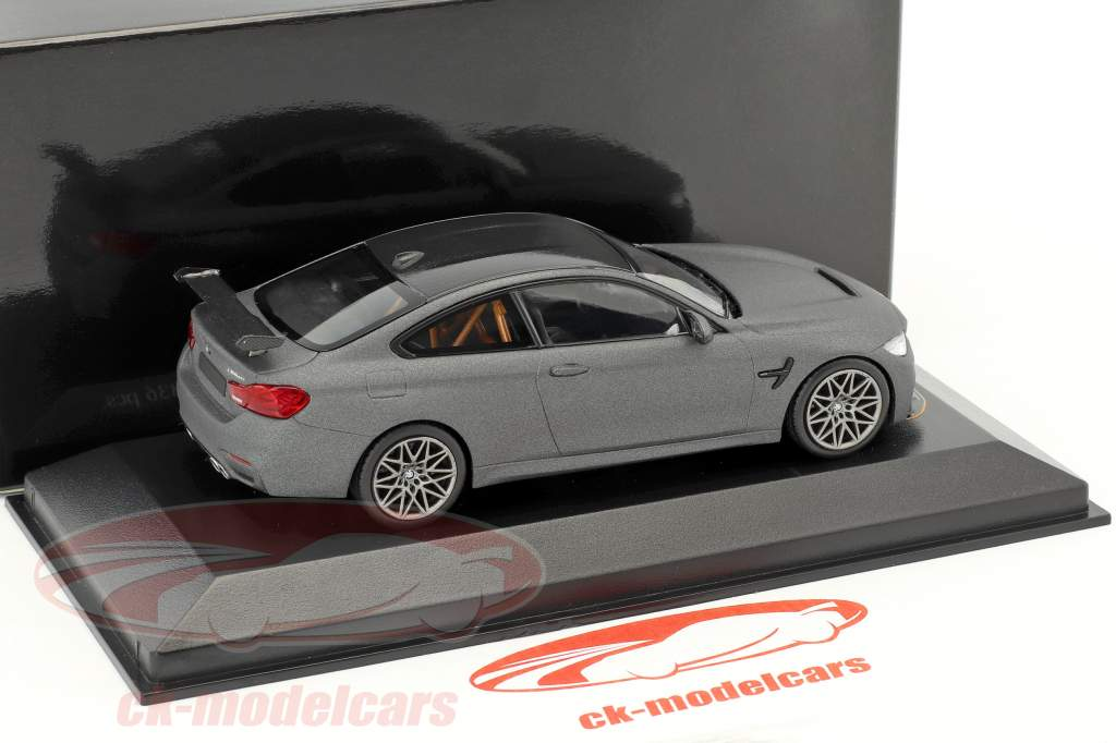 BMW M4 GTS year 2016 mat grey with grey wheels 1:43 Minichamps