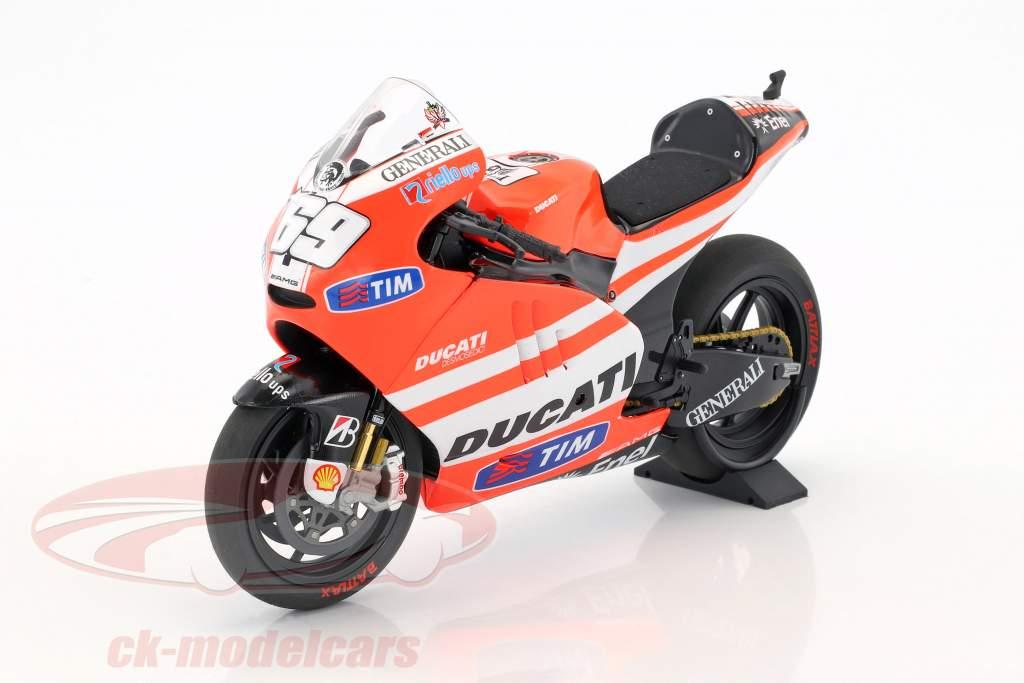 Nicky Hayden Ducati Desmosedici GP11.1 #69 MotoGP 2011 1:12 Minichamps