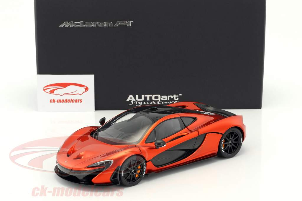 McLaren P1  year 2013 volcano orange metallic 1:18 AUTOart
