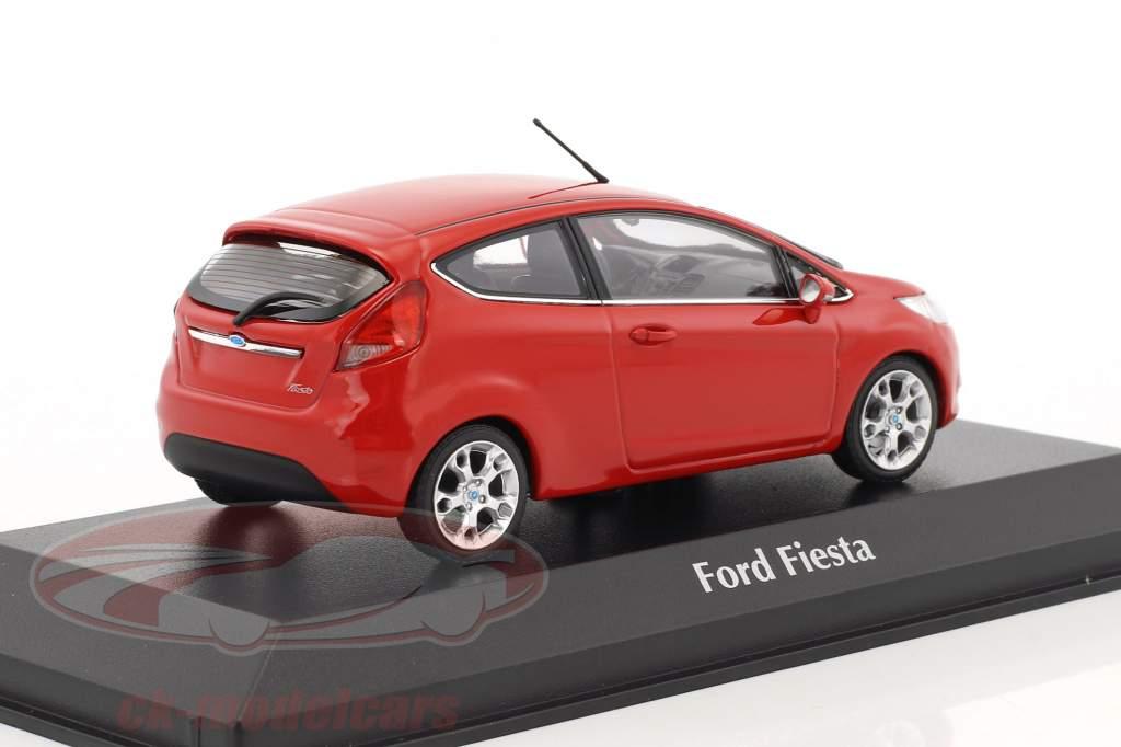 Ford Fiesta année de construction 2011 rouge 1:43 Minichamps