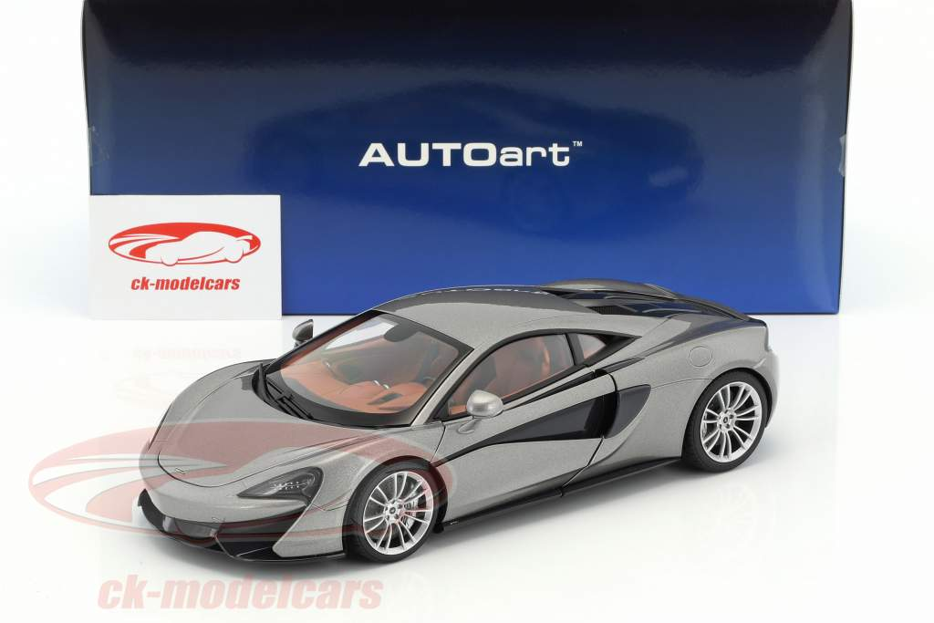 McLaren 570S Baujahr 2016 silber 1:18 AUTOart