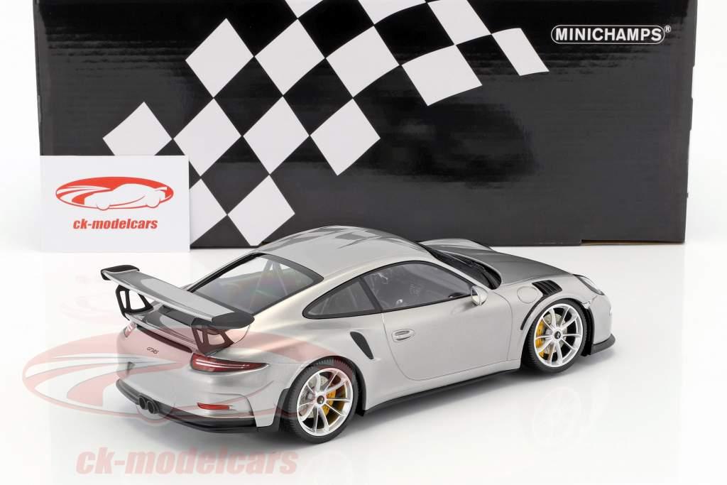Porsche 911 (991) GT3 RS année de construction 2015 argent / argent jantes 1:18 Minichamps