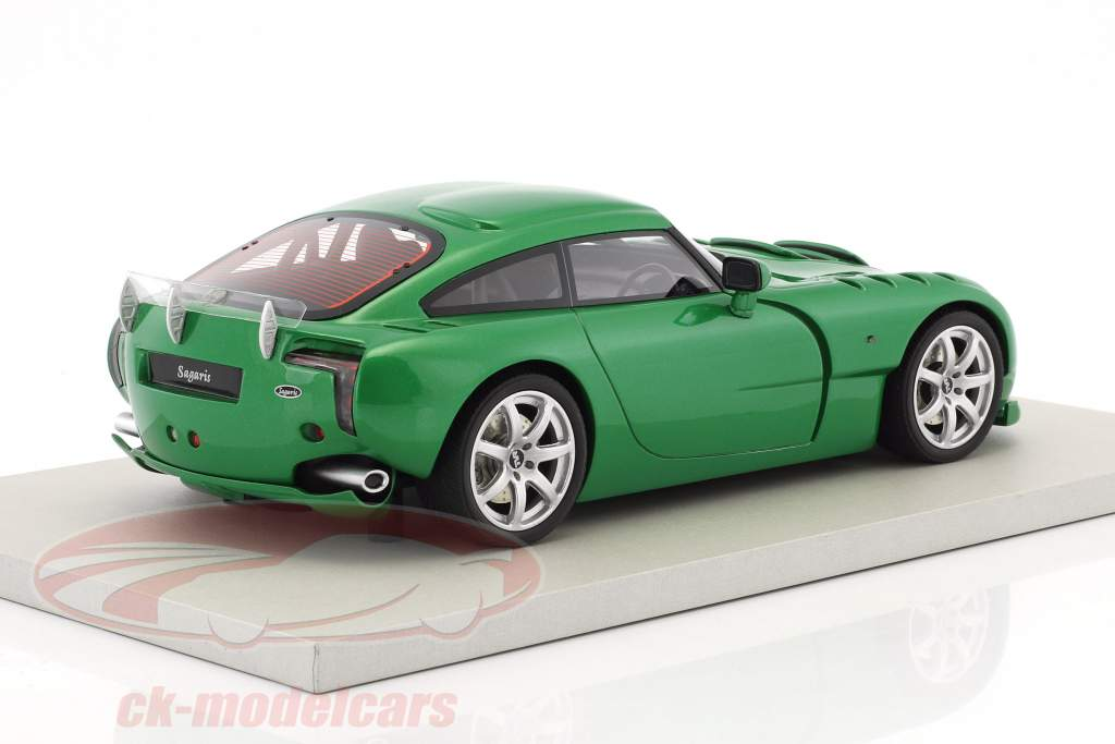 TVR Sagaris year 2005 green metallic 1:18 LS Collectibles