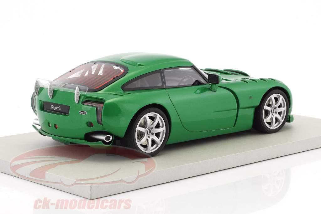 TVR Sagaris année de construction 2005 vert métallique 1:18 LS Collectibles