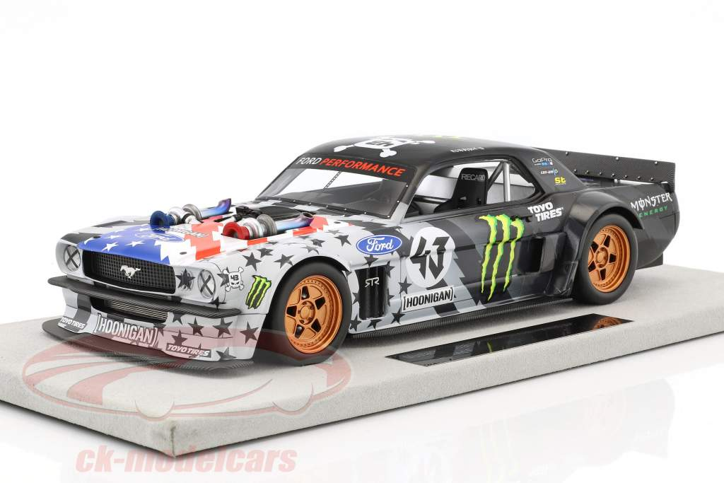 Ford Mustang Hoonigan V2 Stars and Stripes #43 Ken Block 1965 schwarz / grau 1:18 TopMarques