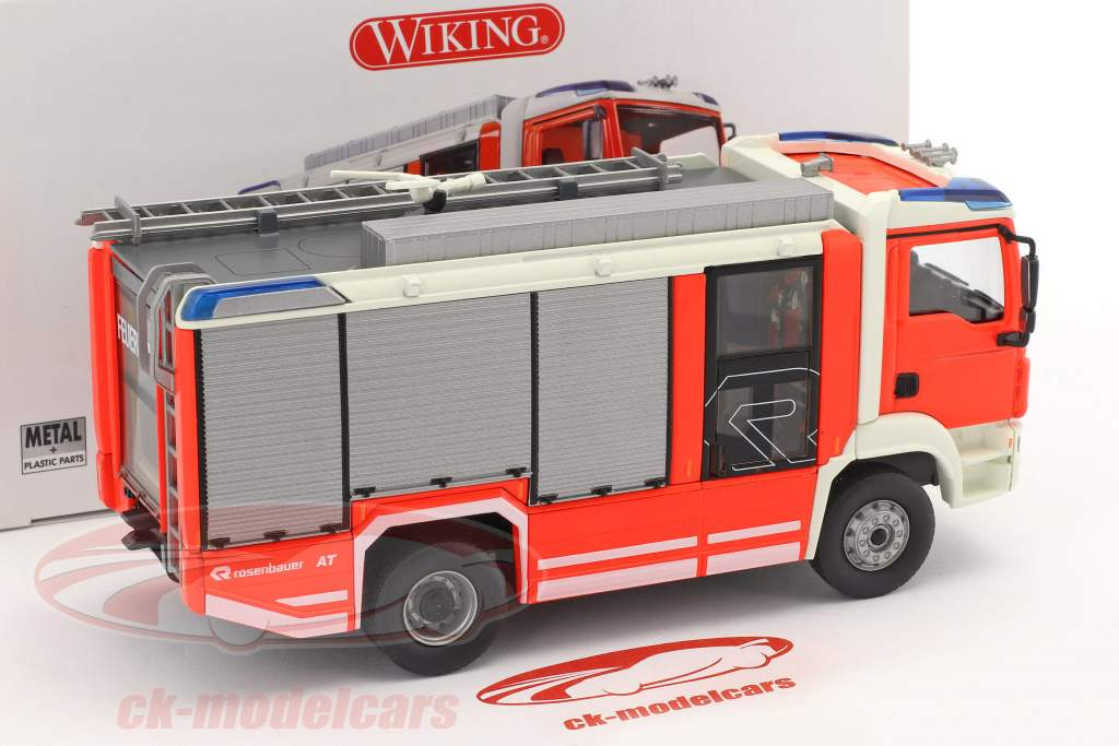 Rosenbauer AT MAN fire Department red 1:43 Wiking
