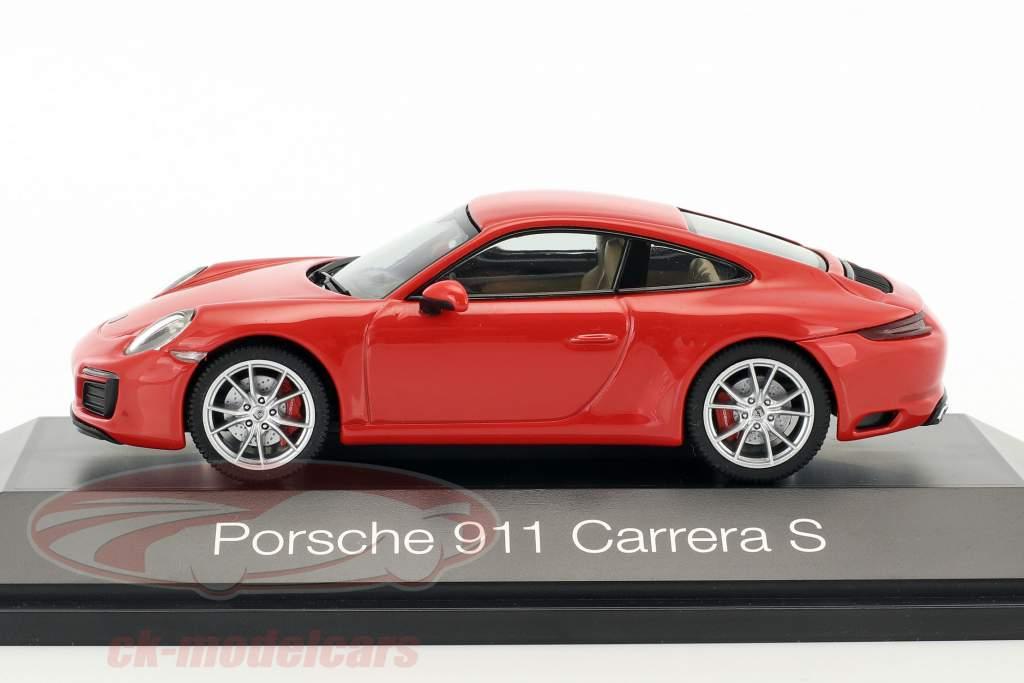 Porsche 911 (991) Carrera S Coupe rouge 1:43 Herpa