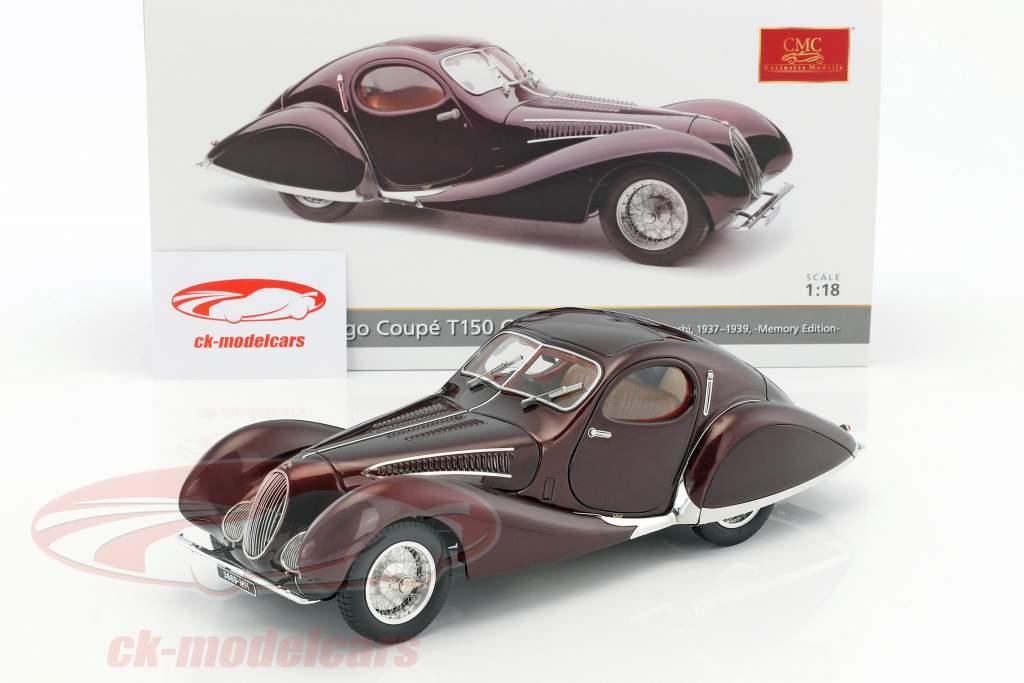 Talbot Lago Coupe T150 C-SS Figoni & Falaschi Baujahr 1937-39 bordeaux rot 1:18 CMC