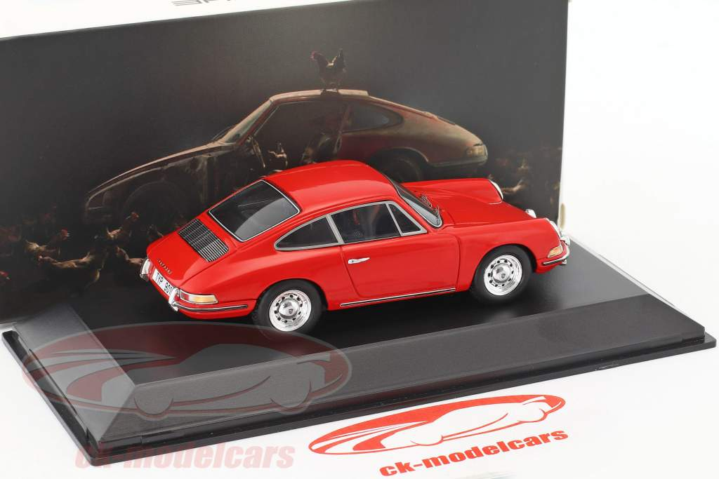 Porsche 901 année de construction 1964 rouge 1:43 Spark