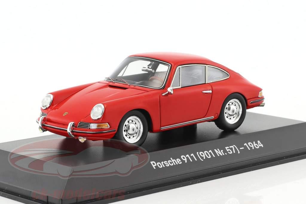 Porsche 901 year 1964 red 1:43 Spark