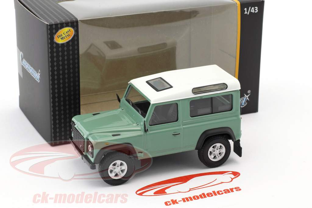 Land Rover Defender 90 light green / white 1:43 Cararama