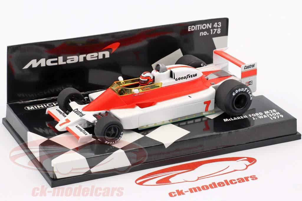 John Watson McLaren Ford M28 #7 formule 1 1979 1:43 Minichamps