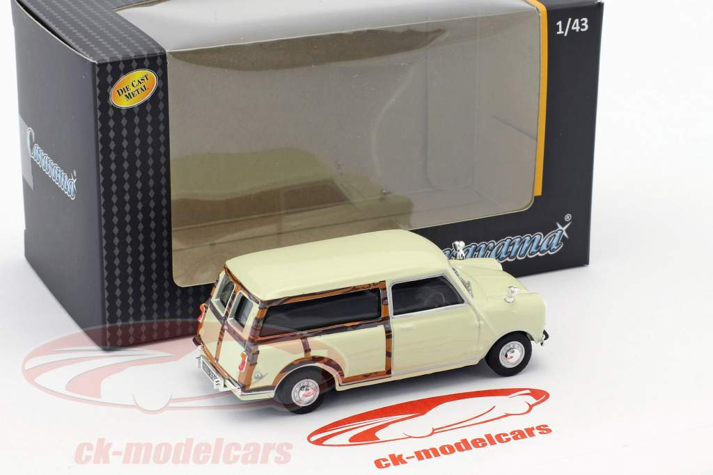 Mini Traveller Van creamy white / wood optics 1:43 Cararama