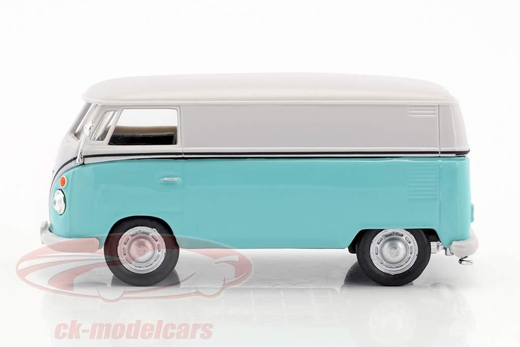 Volkswagen VW T1 Transporter white / turquoise 1:43 Cararama