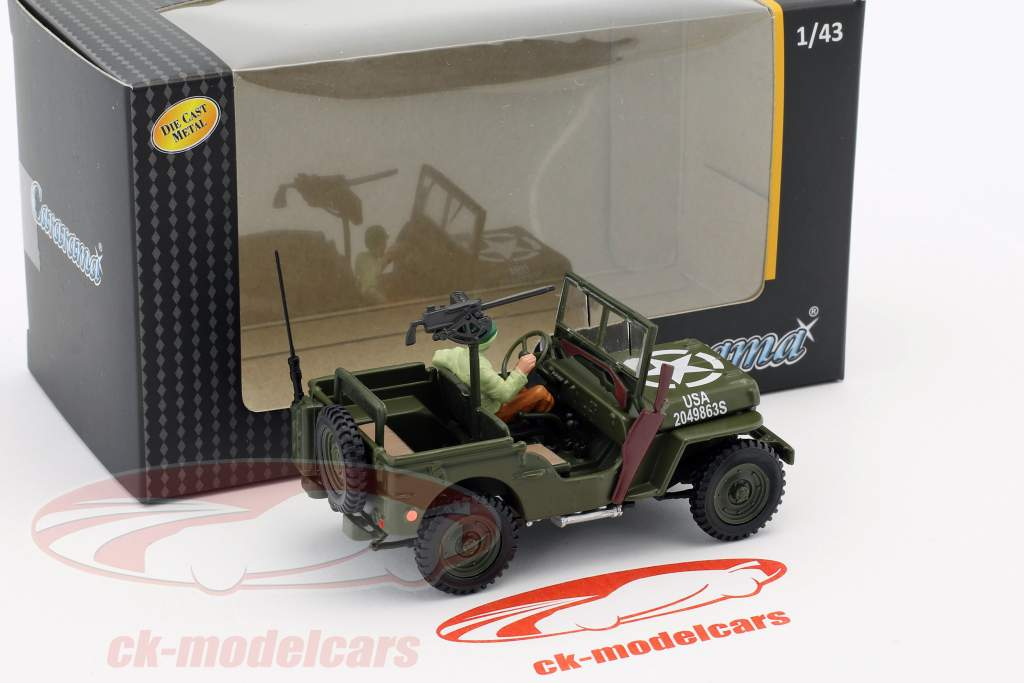 Jeep Willys 4x4 Open Top mit Figur 1:43 Cararama