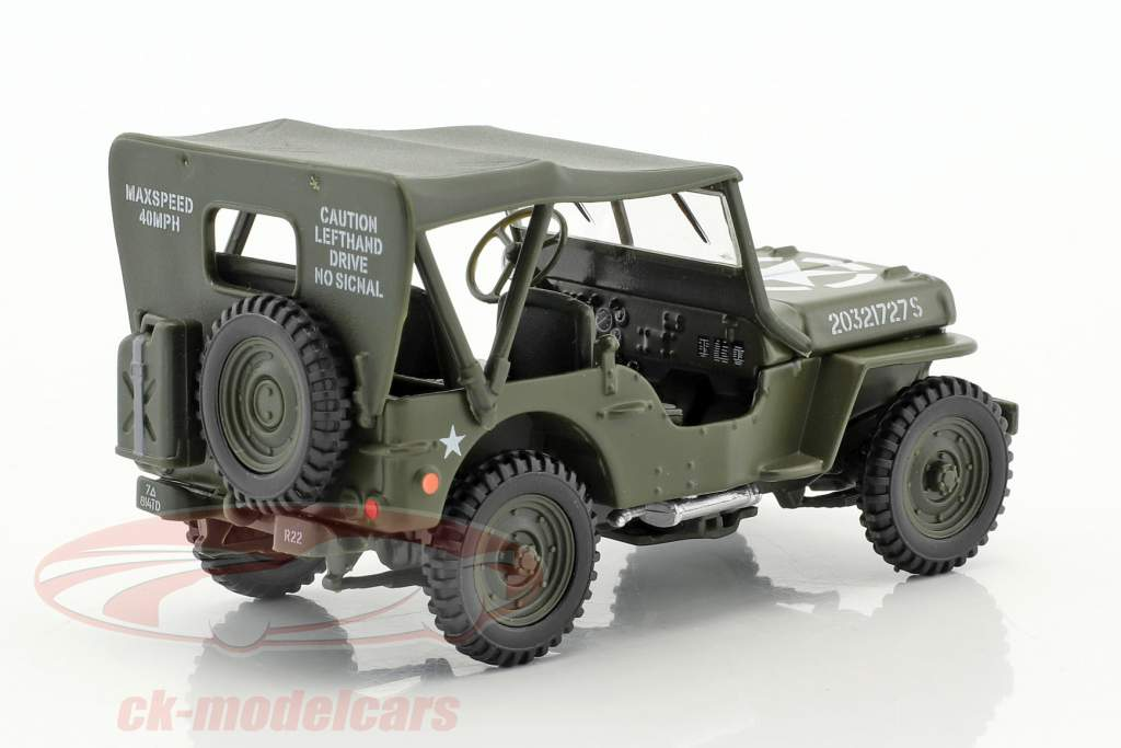 Jeep Willys 4x4 Soft Top green 1:43 Cararama