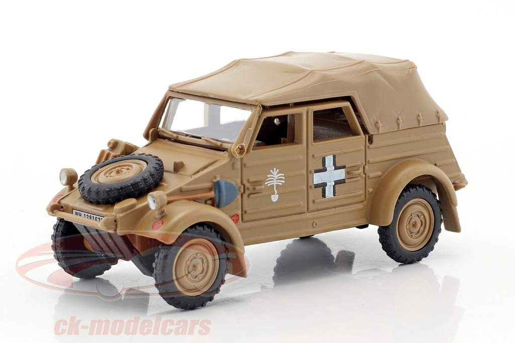 Volkswagen VW Kubel Typ 82 Soft Top anno 1941 Afrika Korps beige 1:43 Cararama
