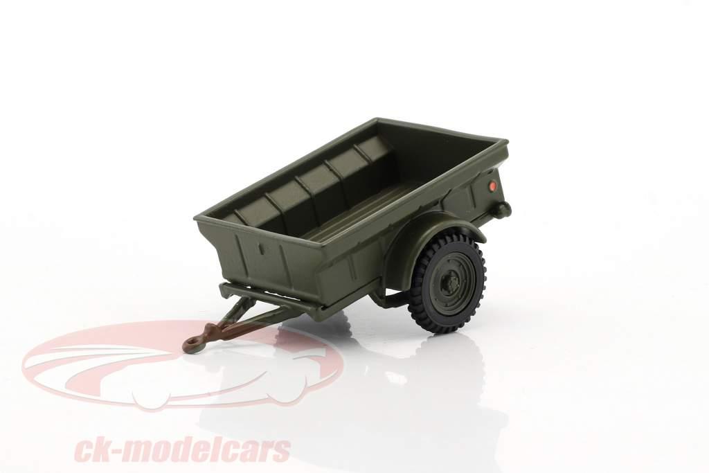 Div 1/4 Ton USA militare trailer 1:43 Cararama