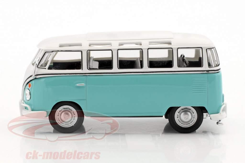 Volkswagen VW T1 Samba Bus türkis / weiß 1:43 Cararama