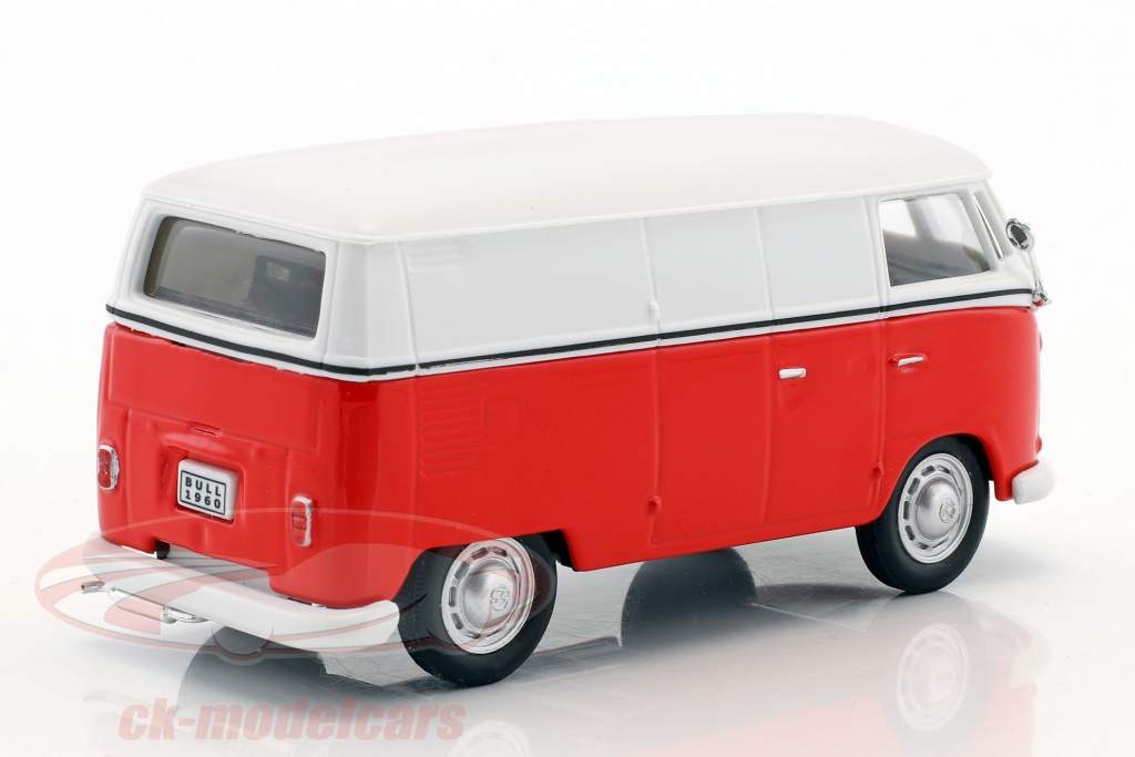 Volkswagen VW T1 transporter white / red 1:43 Cararama