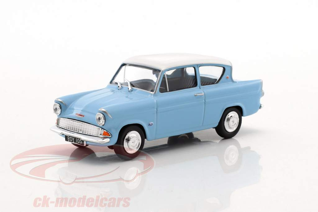 Ford Anglia MKI light blue / white 1:43 Cararama