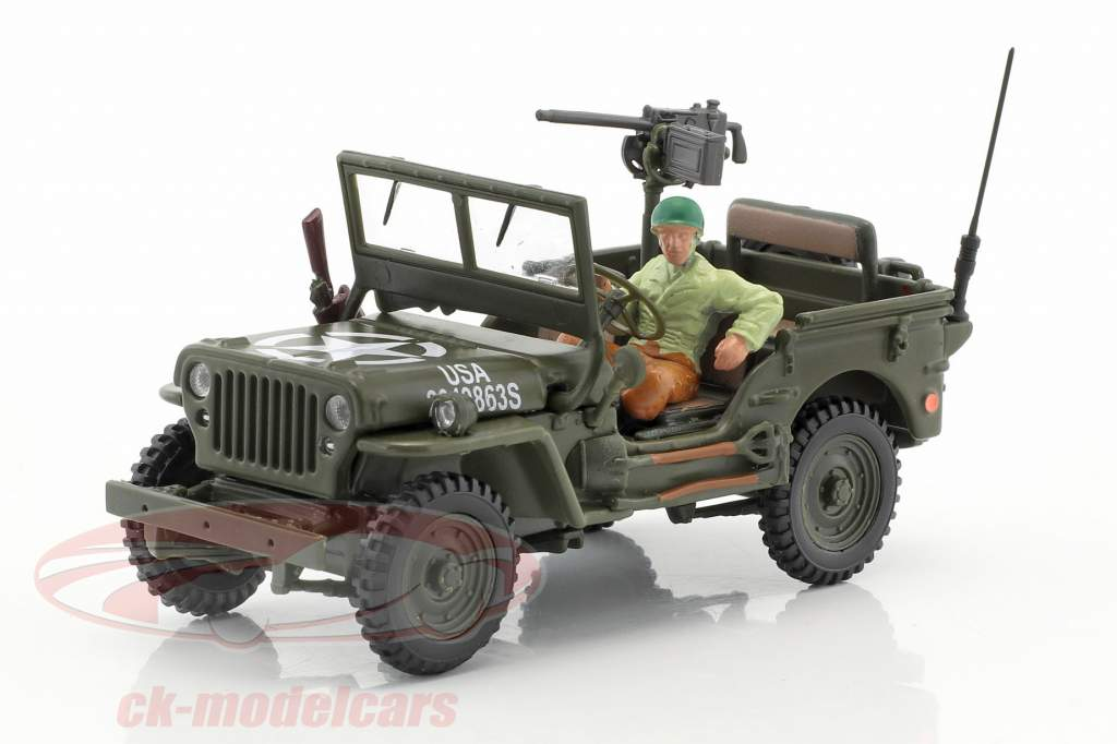 Jeep Willys 4x4 Open Top With figure 1:43 Cararama