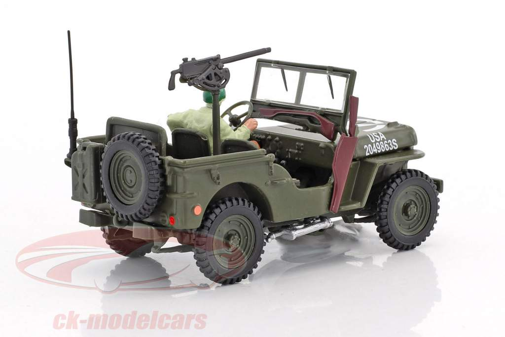 Jeep Willys 4x4 Open Top con cifra 1:43 Cararama