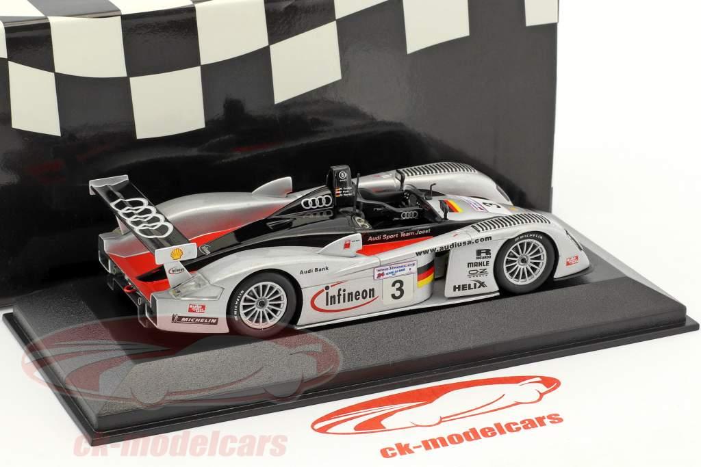 Infineon Audi R8 Team Joest #3 3rd 24h LeMans 2002 Krumm, Peter, Werner 1:43 Minichamps