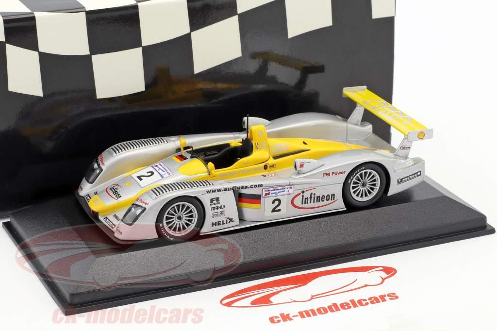 Infineon Audi R8 #2 2nd 24h LeMans 2002 Herbert, Pescatori, Capello 1:43 Minichamps