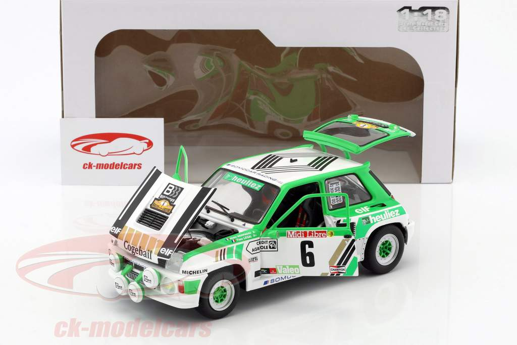 Renault R5 Turbo Gr. B #6 Rallye de Lozere 1985 Serpaggi, Legal 1:18 Solido