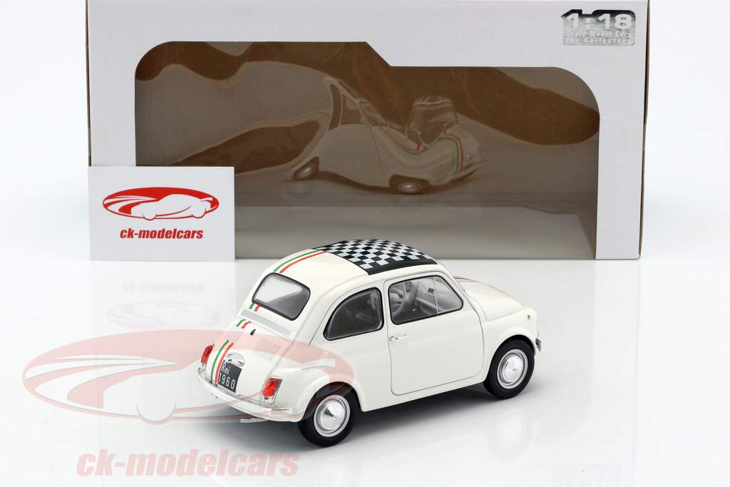 Fiat 500 L Italia year 1968 white 1:18 Solido