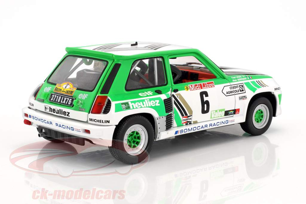 Renault R5 Turbo Gr. B #6 Rally de Lozere 1985 Serpaggi, Legal 1:18 Solido