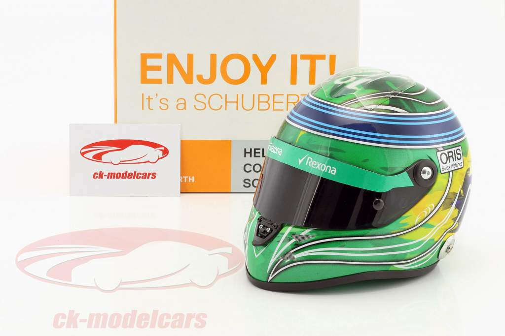 Felipe Massa Williams FW40 Abu Dhabi GP formula 1 2017 Final Race helmet 1:2 Schuberth