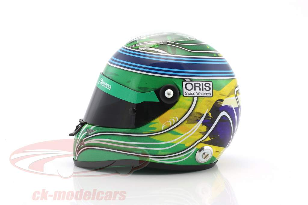 Felipe Massa Williams FW40 Abu Dhabi GP Formel 1 2017 Final Race Helm 1:2 Schuberth