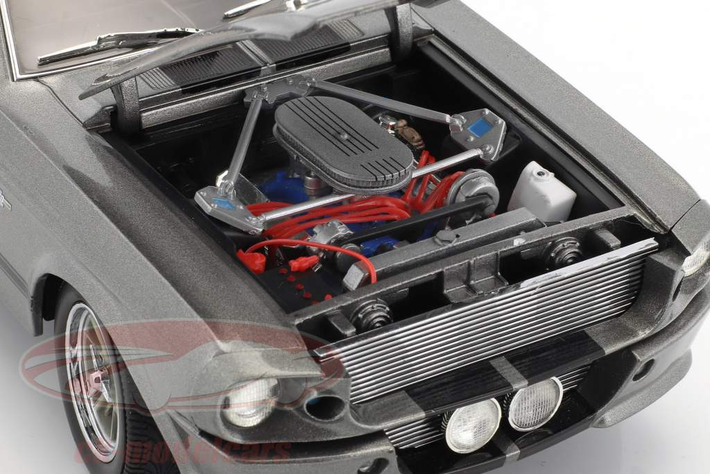Ford Shelby Mustang Eleanor Year 1967 gray metallic / black 1:18 Greenlight