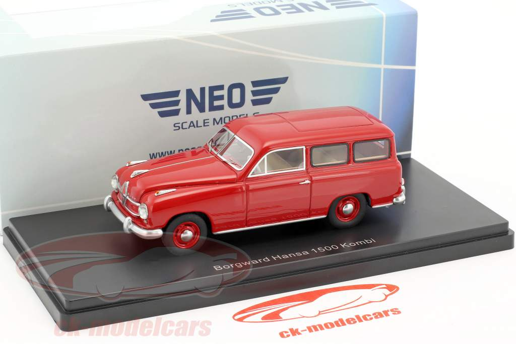 Borgward Hansa 1500 station wagon year 1951 red 1:43 Neo