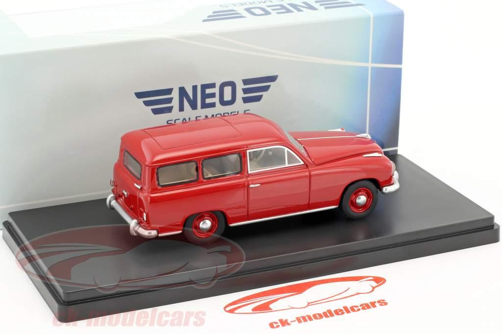 Borgward Hansa 1500 station wagon anno di costruzione 1951 rosso 1:43 Neo