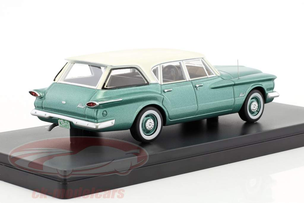 Plymouth Valiant Sation Wagon Baujahr 1960 grün metallic / weiß 1:43 Neo