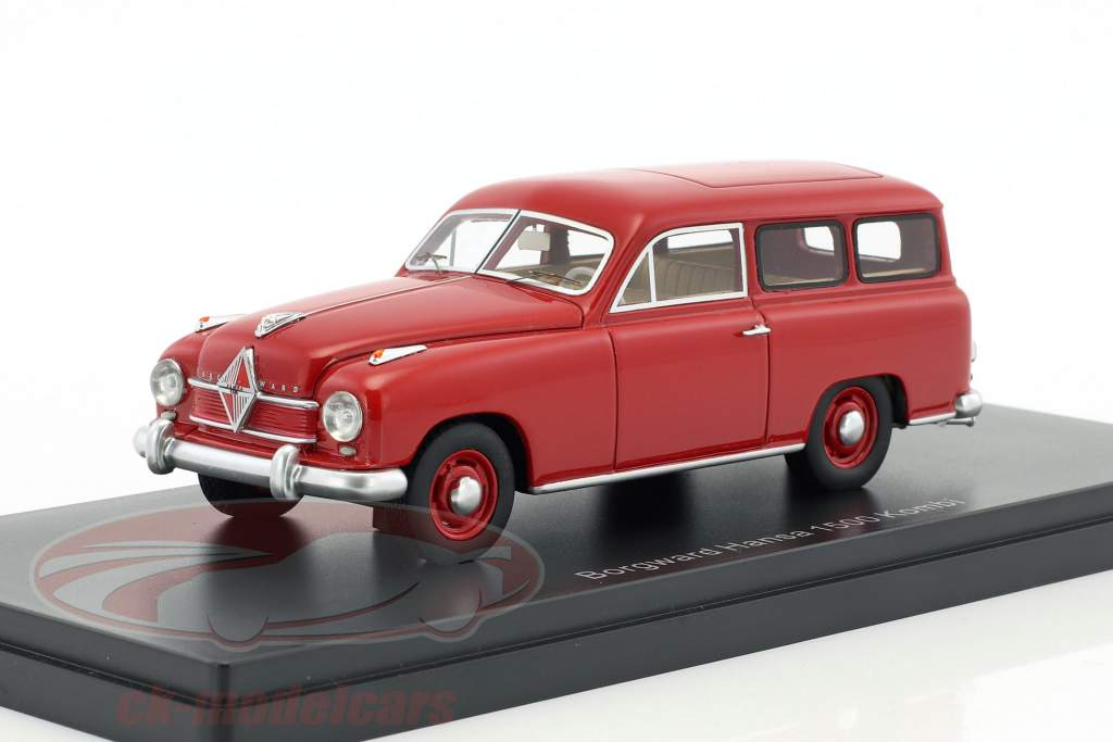 Borgward Hansa 1500 break année de construction 1951 rouge 1:43 Neo
