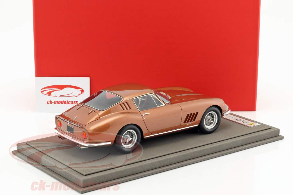 Ferrari 275 GTB4 coupe year 1967 brown metallic With Showcase 1:18 BBR