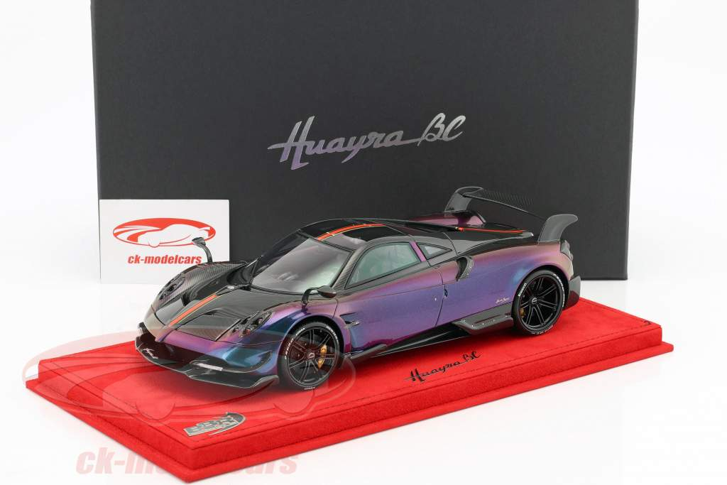 Pagani Huayra BC European version chameleon / carbon roof With Showcase 1:18 BBR