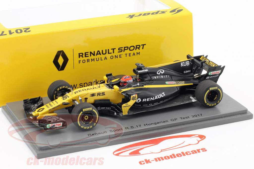 Robert Kubica Renault R.S.17 #46 Test Ungarn GP Formel 1 2017 1:43 Spark