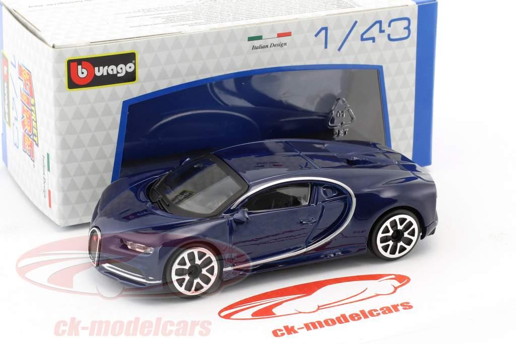 Bugatti Chiron dark blue 1:43 Bburago