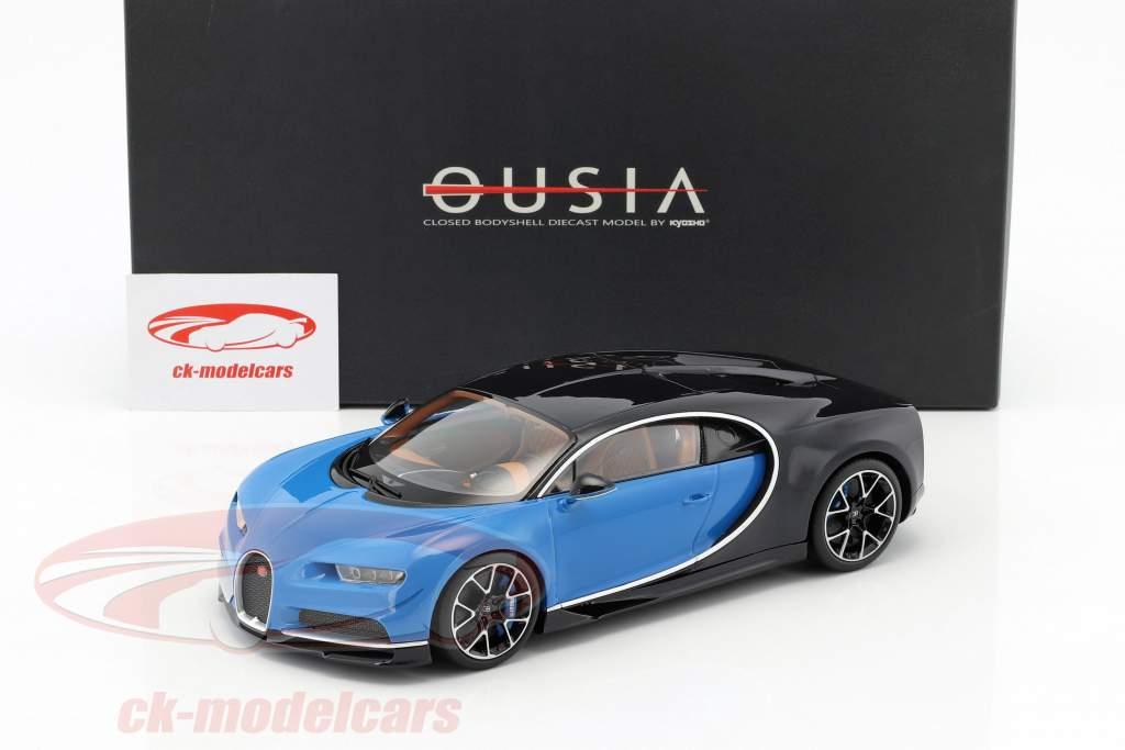 Bugatti Chiron année de construction 2015 bleu / noir 1:18 Kyosho