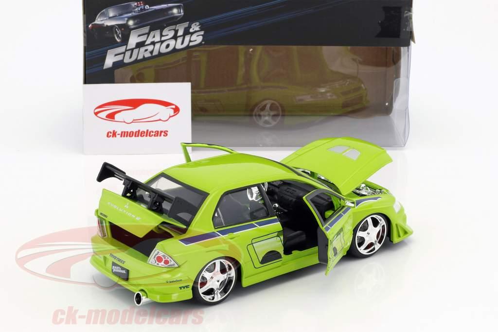Brian's Mitsubishi Lancer Evolution VII 2 Fast 2 Furious 2003 1:24 Jada Toys