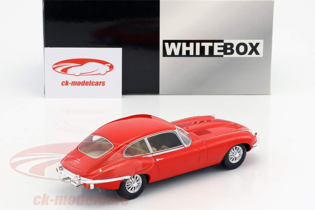 Jaguar E-Type année de construction 1962 rouge 1:24 WhiteBox
