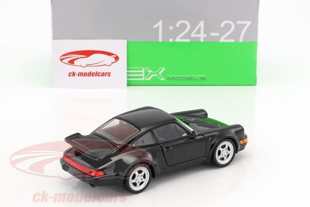 Porsche 911 Turbo 3.0 année 1974 noir 1:24 Welly