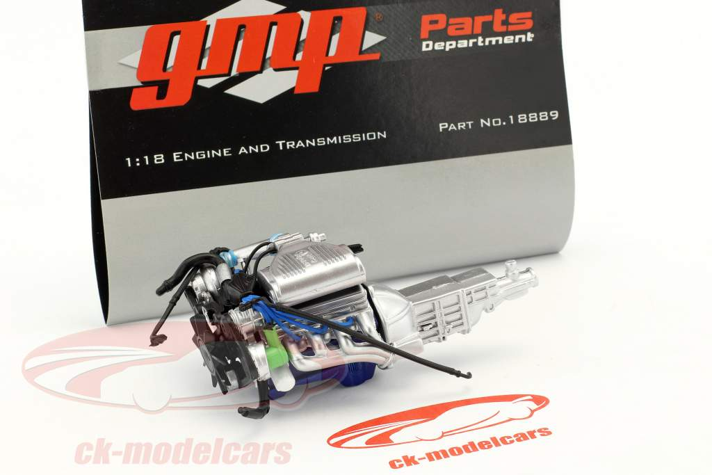 Supercharged 5.0 302 Drag engine and transmission 1:18 GMP